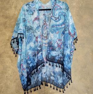 Beautiful Breezy Boho Chiffon Tassel Jacket